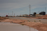 Waste disposal plant in Loco Hills New Mexico, part of Eddy County, with the most productive oil field in the state.
