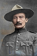Lieutenant General Robert Stephenson Smyth Baden-Powell, 1st Baron Baden-Powell, OM, GCMG, GCVO, KCB, KStJ, DL (22 February 1857 – 8 January 1941), was a British Army officer, writer, founder and first Chief Scout of the world-wide Scout Movement, and founder, with his sister Agnes, of the world-wide Girl Guide / Girl Scout Movement. Baden-Powell authored the first editions of the seminal work Scouting for Boys, which was an inspiration for the Scout Movement. from the book ' Boer and Britisher in South Africa; a history of the Boer-British war and the wars for United South Africa, together with biographies of the great men who made the history of South Africa ' By Neville, John Ormond Published by Thompson & Thomas, Chicago, USA in 1900