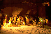 Residential Crèche scene in snow. St Paul Minnesota USA