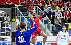 06.01.2017, BSFZ Suedstadt, Maria Enzersdorf, AUT, IHF Junior WM 2017 Qualifikation, Ungarn vs Österreich, im Bild Julian Ranftl (AUT) // during the IHF Men's Junior World Championships qualifying match between Hungary and Austria at the BSFZ Suedstadt, Maria Enzersdorf, Austria on 2017/01/06, EXPA Pictures © 2017, PhotoCredit: EXPA/ Sebastian Pucher