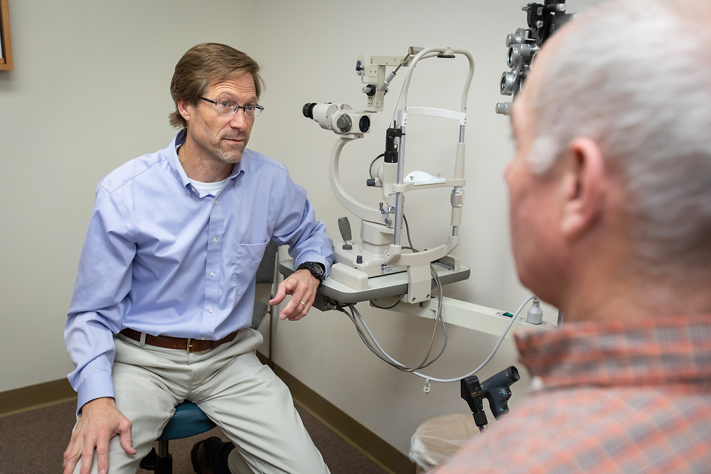 Clinicians and staff serve patients at Custer County Clinic.