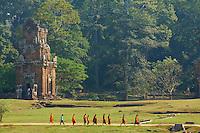 Asie du Sud Est, Cambodge, Province de Siem Reap, Angkor, complexe des temples de Angkor, Patrimoine Mondial de l'UNESCO en 1992, temple de Kleang Nord // Southeast Asia, Cambodia, Siem Reap Province, Angkor site, Unesco world heritage since 1992, North Kleang temple