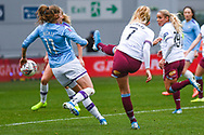 West Ham United Women forward Alisha Lehmann (7) takes a shot during the FA Women's Super League match between Manchester City Women and West Ham United Women at the Sport City Academy Stadium, Manchester, United Kingdom on 17 November 2019.