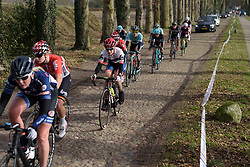 Nicole Hanselmann takes the cobbles in her stride at Ronde van Drenthe 2017. A 152 km road race on March 11th 2017, starting and finishing in Hoogeveen, Netherlands. (Photo by Sean Robinson/Velofocus)