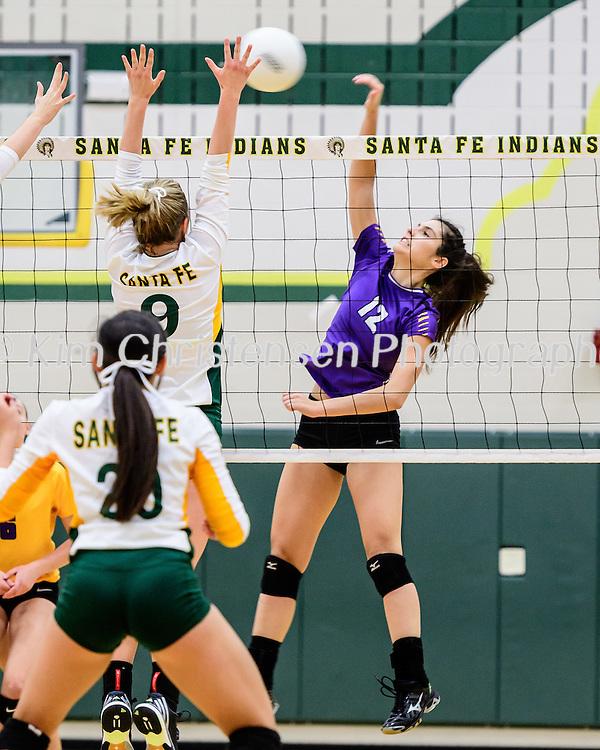 Galveston Ball vs Santa Fe Volleyball at Santa Fe