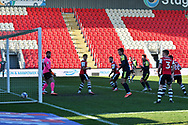 GOAL 2-1 Stevenage forward Elliott List(17) shoots and scores a goal  during the EFL Sky Bet League 2 match between Exeter City and Stevenage at St James' Park, Exeter, England on 23 January 2021.