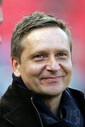 23.10.2011,  BayArena, Leverkusen, GER, 1.FBL, Bayer 04 Leverkusen vs Schalke 04, im Bild.Schalke Manager Horst Heldt wirkt zufrieden..// during the 1.FBL, Bayer Leverkusen vs Schalke 04 on 2011/10/23, BayArena, Leverkusen, Germany. EXPA Pictures © 2011, PhotoCredit: EXPA/ nph/  Mueller       ****** out of GER / CRO  / BEL ******