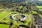 Nederland, Friesland, Gemeente Heerenveen, 10-10-2014; nieuwbouwwijk Skoatterwald, Landgoed Oranjewoud in de achtergrond.<br /> <br /> luchtfoto (toeslag op standard tarieven);<br /> aerial photo (additional fee required);<br /> copyright foto/photo Siebe Swart