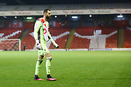 Aberdeen goalkeeper and Captain Joe Lewis (1) leaves the pitch during the Scottish Premiership match between Aberdeen and Hamilton Academical FC at Pittodrie Stadium, Aberdeen, Scotland on 20 October 2020.