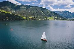 THEMENBILD - ein Segelboot am Zeller See, aufgenommen am 28. Juli 2020 in Zell am See, Österreich // a sailing boat at the Zeller See, Zell am See, Austria on 2020/07/28. EXPA Pictures © 2020, PhotoCredit: EXPA/ JFK