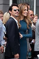 5/23/2011 Mark Anthony & Jennifer Lopez pose during Simon Fuller's Hollywood Walk of Fame ceremony