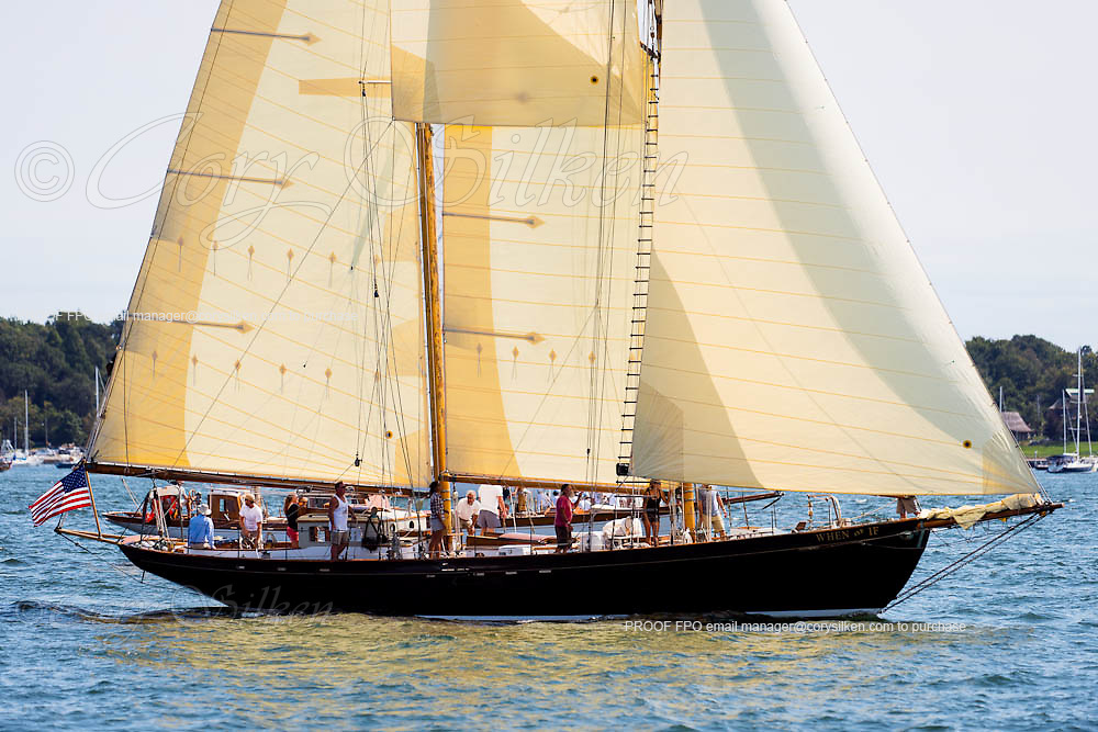 When and If sailing in the Museum of Yachting Classic Yacht Regatta, day two.