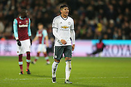 Marcos Rojo of Manchester United looking on. Premier league match, West Ham Utd v Manchester Utd at the London Stadium, Queen Elizabeth Olympic Park in London on Monday 2nd January 2017.<br /> pic by John Patrick Fletcher, Andrew Orchard sports photography.