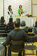 "Maureen Huntley gives a demonstration entitled ""From the Natural Kitchen."" Demonstrations were held in multiple locations hroughout the festival."