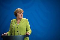 DEU, Deutschland, Germany, Berlin, 13.08.2018: Bundeskanzlerin Dr. Angela Merkel (CDU) bei einer Pressekonferenz im Bundeskanzleramt.