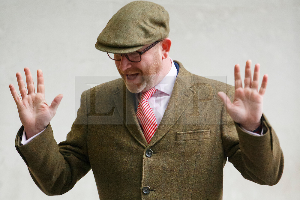 © Licensed to London News Pictures. 05/03/2017. London, UK. UKIP leader PAUL NUTTALL arrives at BBC Broadcasting House in London to appear on The Andrew Marr show on BBC One on  5 March 2017. Photo credit: Tolga Akmen/LNP