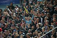 Die Fans der SCRJ Lakers jubeln im Playoff-Final Spiel 2 der NLB zwischen den SC Rapperswil-Jona Lakers und dem SC Langenthal, am Freitag, 24. Maerz 2017, in der St. Galler Kantonalbank Arena Rapperswil-Jona. (Thomas Oswald)