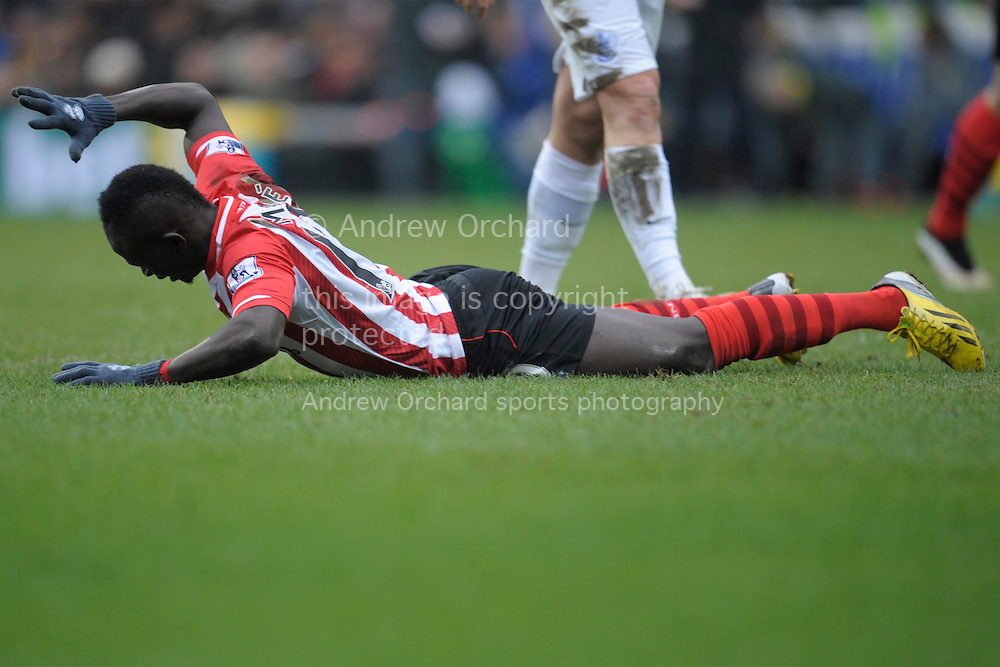Sadio Mane of Southampton reacts after missing a chance to score. Barclays Premier league match, Queens Park Rangers v Southampton at Loftus Road in London on Saturday 7th Feb 2015. pic by John Patrick Fletcher, Andrew Orchard sports photography.
