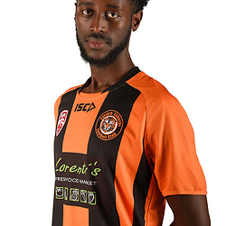 BRISBANE, AUSTRALIA - FEBRUARY 6: Jen Louis Mbarushayo poses for a photo during the Eastern Suburbs FQPL Queensland Senior Men's headshot session on February 6, 2018 in Brisbane, Australia. (Photo by Eastern Suburbs FC / Patrick Kearney)