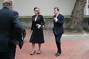 Annabel and Simon Elliot, Mark Birley funeral. St Paul's , Knightsbridge. London. 19 September 2007. -DO NOT ARCHIVE-© Copyright Photograph by Dafydd Jones. 248 Clapham Rd. London SW9 0PZ. Tel 0207 820 0771. www.dafjones.com.