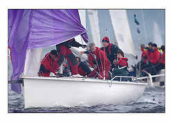 Racing at the Bell Lawrie Yachting Series in Tarbert Loch Fyne. Saturday racing started overcast but lifted throughout the day..Racing in the 1720 Class. GBR 1798L Incognito..