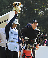Golf - 2019 BMW PGA Championship - Thursday, First Round<br /> <br /> Rory McIlroy of Ireland with his caddie at the 3th hole, at the West Course, Wentworth Golf Club.<br /> <br /> COLORSPORT/ANDREW COWIE