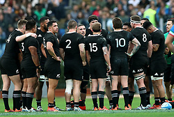 November 24, 2018 - Rome, Italy - Italy v New Zealand All Blacks - Rugby Cattolica Test Match.New Zealands TJ Perenara talks with the teammates at Olimpico Stadium in Rome, Italy on November 24, 2018. (Credit Image: © Matteo Ciambelli/NurPhoto via ZUMA Press)