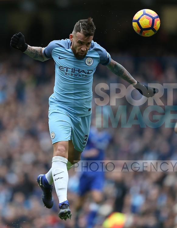 Nicolas Otamendi of Manchester City during the Premier League match at the Etihad Stadium, Manchester. Picture date: December 3rd, 2016. Pic Simon Bellis/Sportimage