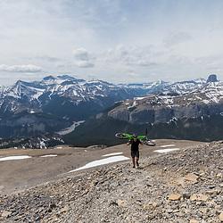 Mountain Biking Black Rock Mountain in the Ghost River Wilderness, Alberta, Canada