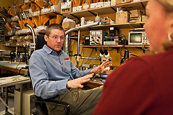Erik Blake of Icefield Tools Corporation at the company's warehourses in Whitehorse, Yukon