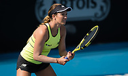 Danielle Collins of the United States in action during her quarter-final match at the 2020 Adelaide International WTA Premier tennis tournament against Belinda Bencic of Switzerland. Photo Rob Prange / Spain ProSportsImages / DPPI / ProSportsImages / DPPI