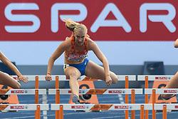 Eefje Boons in de halve finale 100m horden bij het EK atletiek in Berlijn op 9-8-2018