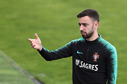 May 30, 2018 - Lisbon, Portugal - Portugal's midfielder Bruno Fernandes during a training session at Cidade do Futebol (Football City) training camp in Oeiras, outskirts of Lisbon, on May 30, 2018, ahead of the FIFA World Cup Russia 2018 preparation matches against Belgium and Algeria...........during the Portuguese League football match Sporting CP vs Vitoria Guimaraes at Alvadade stadium in Lisbon on March 5, 2017. Photo: Pedro Fiuzaduring the Portugal Cup Final football match CD Aves vs Sporting CP at the Jamor stadium in Oeiras, outskirts of Lisbon, on May 20, 2015. (Credit Image: © Pedro Fiuza/NurPhoto via ZUMA Press)