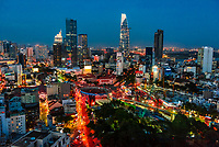 Bitexco Financial Tower, the tallest building in the city and 3rd tallest in Vietnam, Ho Chi Minh City (Saigon), the largest city in Vietnam.
