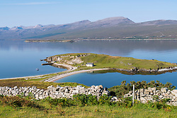View of Loch Eriboll in Highland, part of North Coast 500 tourist route in north coast of  Scotland , United Kingdom