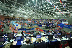 View for media at the 1st day of  European Athletics Indoor Championships Torino 2009 (6th - 8th March), at Oval Lingotto Stadium,  Torino, Italy, on March 6, 2009. (Photo by Vid Ponikvar / Sportida)