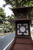 Old Tokaido Road Lantern- There were originally 53 posts along the Old Tokaido Road or Eastern Coastal Road.  Tokaido is now both the main central train line as well as the original Shinkansen Bullet Train from Tokyo to Kyoto.  But of the original trail only about 9 km still exists, most of it in Hakone.