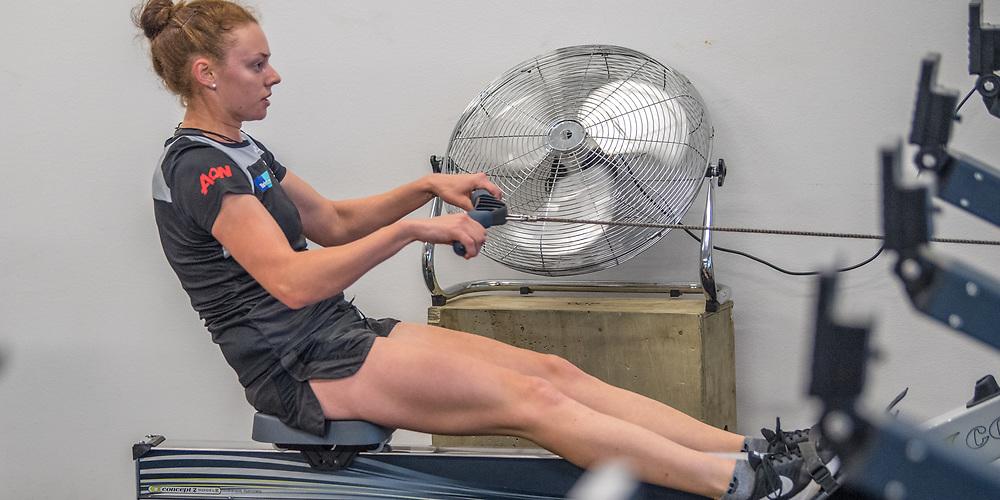 Shannon Cox, Avon Rowing Club<br /> <br /> SRPC squad ergometer training at HPSNZ Apollo Sports Centre, Christchurch. Tuesday 20 November 2018 © Copyright photo Steve McArthur / @RowingCelebration