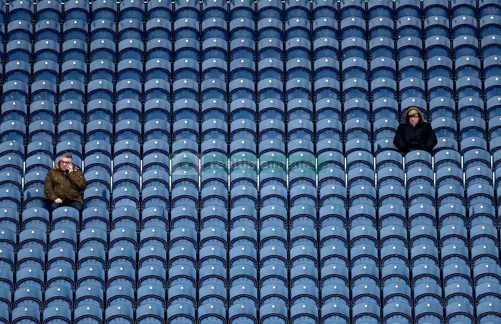 Fans in the stands at the West Bromwich Albion's v Manchester United Premier League match