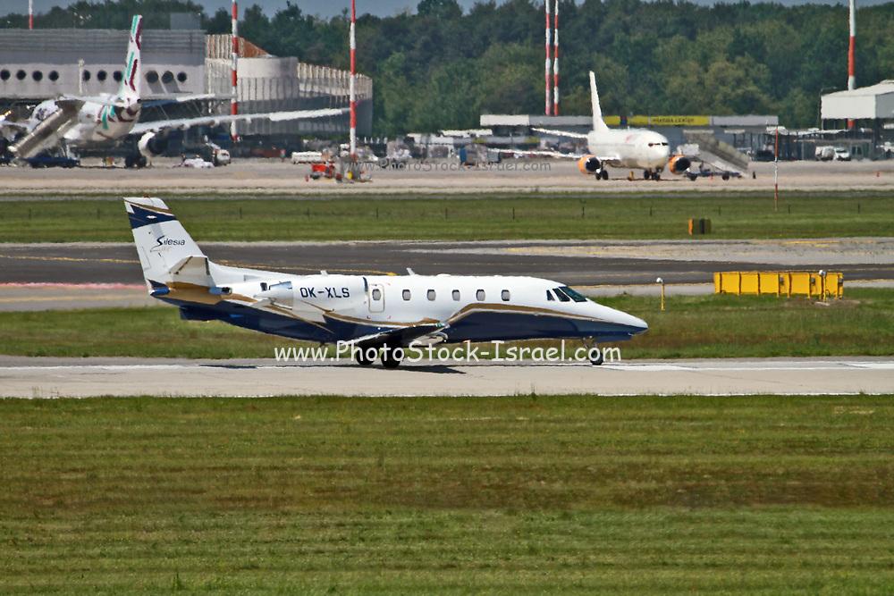 OK-XLS Silesia Air Cessna 560XL Citation XLS at Malpensa (MXP / LIMC), Milan, Italy