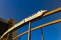 Monorail at Contemporary Resort, Magic Kingdom, Walt Disney World, Orlando, Florida USA