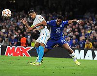 Football - 2021 / 2022 UEFA Champions League - Group H, Round One - Chelsea vs Zenit St Petersburgh - Stamford Bridge - Tuesday 14th September 2021<br /> <br /> Reece James of Chelsea and Douglas Santos of Zenit<br /> <br /> Credit : COLORSPORT/Andrew Cowie