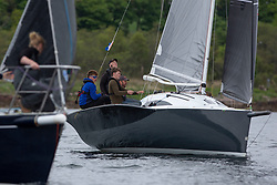 Day 1 Scottish Series, SAILING, Scotland.<br /> <br /> Stealthy, Stealth 8, 2591C, Tarbert Loch Fyne YC<br /> <br /> The Scottish Series, hosted by the Clyde Cruising Club is an annual series of races for sailing yachts held each spring. Normally held in Loch Fyne the event moved to three Clyde locations due to current restrictions. <br /> <br /> Light winds did not deter the racing taking place at East Patch, Inverkip and off Largs over the bank holiday weekend 28-30 May. <br /> <br /> Image Credit : Marc Turner / CCC