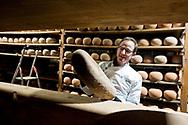 Jean-François Dubois, affineur (cheese ager) at La Finarde in the former citadel in Arras, Pas-de-Calais, France © Rudolf Abraham