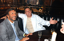 Left to right, the HON.SIR ROCCO FORTE and MARCO PIERRE WHITE at the opening party of the new Frankie's Italian Bar and Grill hosted by Frankie Dettori, Marco Pierre White and Edward Taylor at 68 Chiswick High Road, London W4 on 1st September 2005.<br />