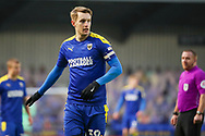 AFC Wimbledon striker Joe Pigott (39) pointing during the EFL Sky Bet League 1 match between AFC Wimbledon and Lincoln City at Plough Lane, London, United Kingdom on 2 January 2021.