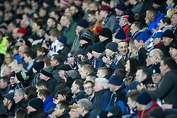 South stand. <br /> Falkirk 3 v 2 Rangers, Scottish Championship game player at The Falkirk Stadium, 18/3/2016.