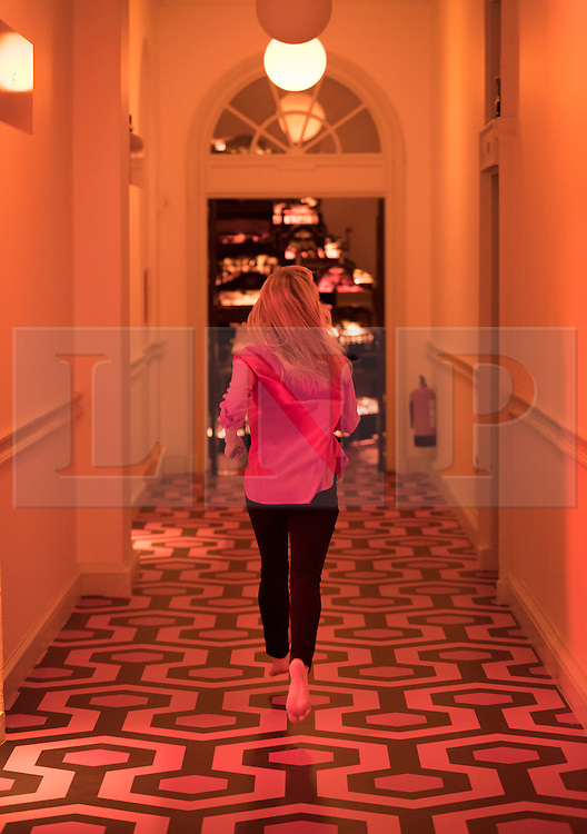 © Licensed to London News Pictures.  The Shining Carpet (WT) by Adam Broomberg and Oliver Chanarin lines the floors at the exhibition Daydreaming with Stanley Kubrick in partnership with Canon at Somerset House in London. The show opens on July 6, 2016 and runs until August 24, 2016.  The exhibition features 50 works inspired by the legendary film director from a host of contemporary artists, musicians and filmmakers. London, UK.   Photo credit: Peter Macdiarmid/LNP