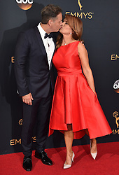 David Burnett, Roma Downey attend the 68th Annual Primetime Emmy Awards at Microsoft Theater on September 18, 2016 in Los Angeles, CA, USA. Photo by Lionel Hahn/ABACAPRESS.COM