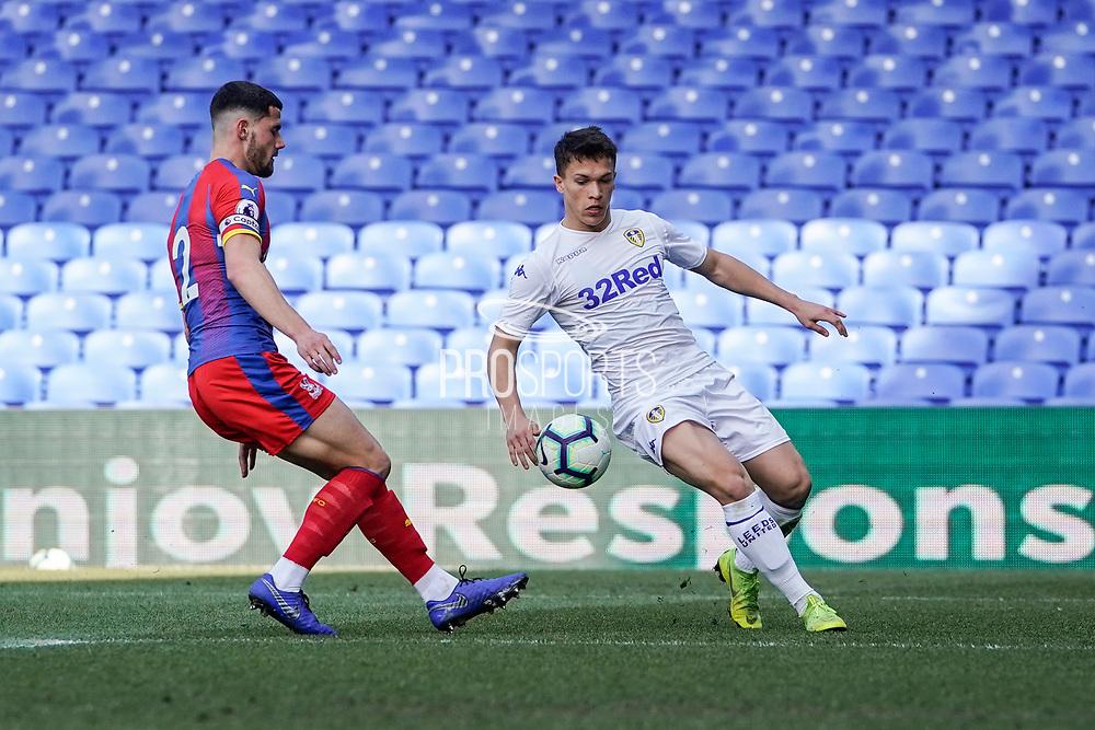 Kun Temenuzhkov of Leeds United U23 during the U23 Professional Development League match between U23 Crystal Palace and Leeds United at Selhurst Park, London, England on 15 April 2019.